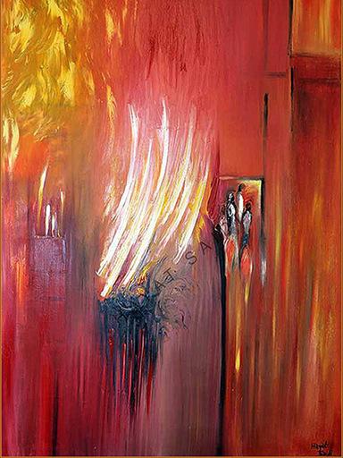 Hayat SAIDI - Peinture - Ascension