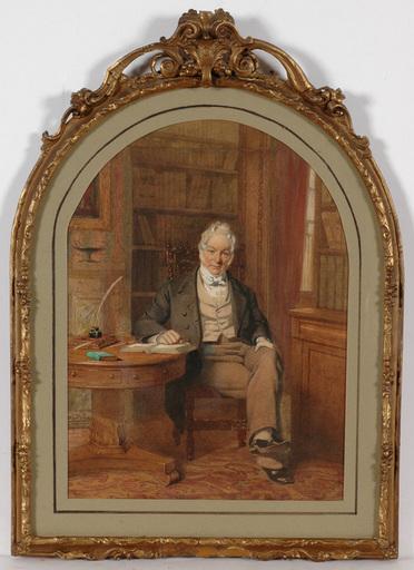 """George Elgar HICKS - Peinture - George Elgar Hicks (1824-1914) """"Banker Edward Hicks"""""""