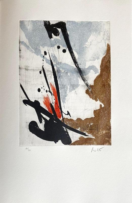 Jean MIOTTE - Estampe-Multiple - Près des murs