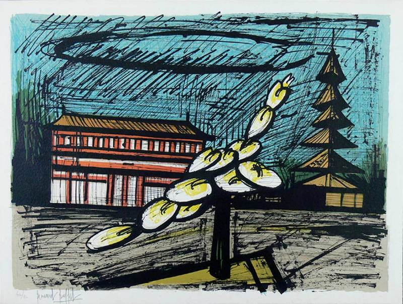 Bernard BUFFET - Print-Multiple - Temple de Heian Shrine, Kyoto