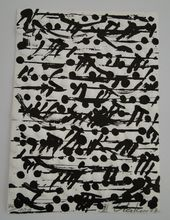 Günther UECKER - Print-Multiple - optische Partitur III (Notation)
