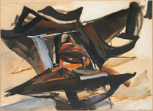 Huguette Arthur BERTRAND - Drawing-Watercolor - Noeud d'Orage