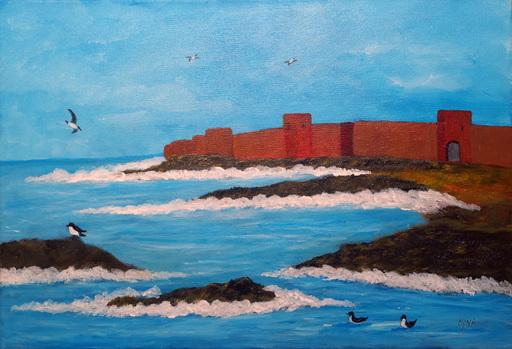 Kyna DE SCHOUEL - Peinture - Murailles de mer