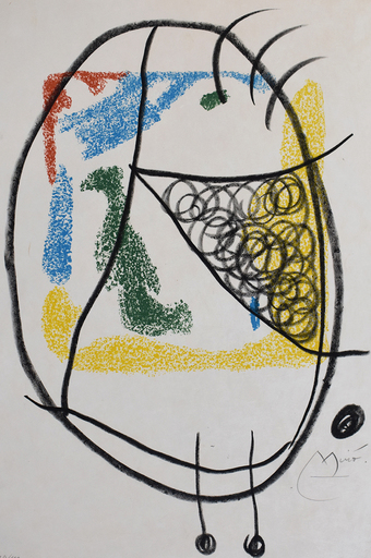 胡安·米罗 - 版画 -  Composition IX, from: The Essences of the Earth | Les Essen