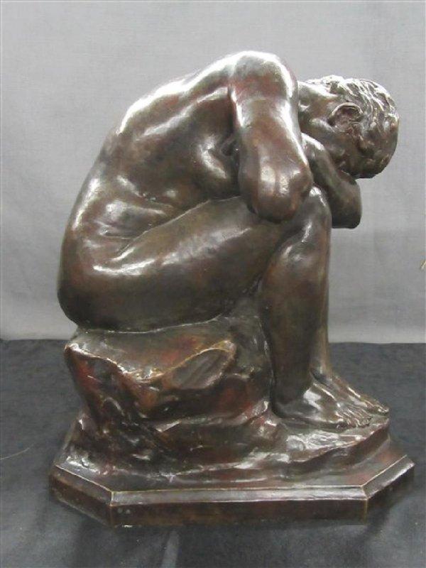 "Aimé-Jules DALOU - Sculpture-Volume - ""La Verite Meconnue"""