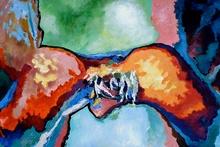 Claude THIEL DE NEUVILLE - Pittura - Passion isotherms n°1