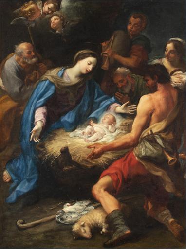 Giuseppe Bartolomeo CHIARI - Painting - Adorazione dei pastori
