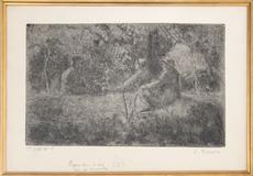 Camille PISSARRO - Print-Multiple - Repos du Dimanche dans le Bois