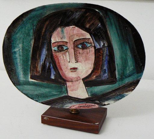 Bruno CASSINARI - Ceramic - Volto femminile