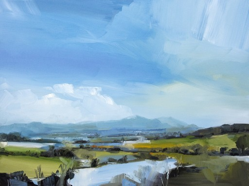 Simon ANDREW - Painting - Spring Melt with Clouds