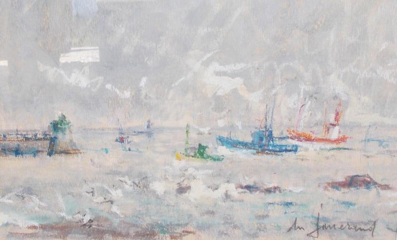 Daniel DU JANERAND - Drawing-Watercolor - Les chalutiers