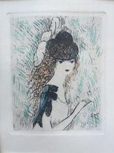 Marie LAURENCIN - Print-Multiple - Jeune fille au chapeau