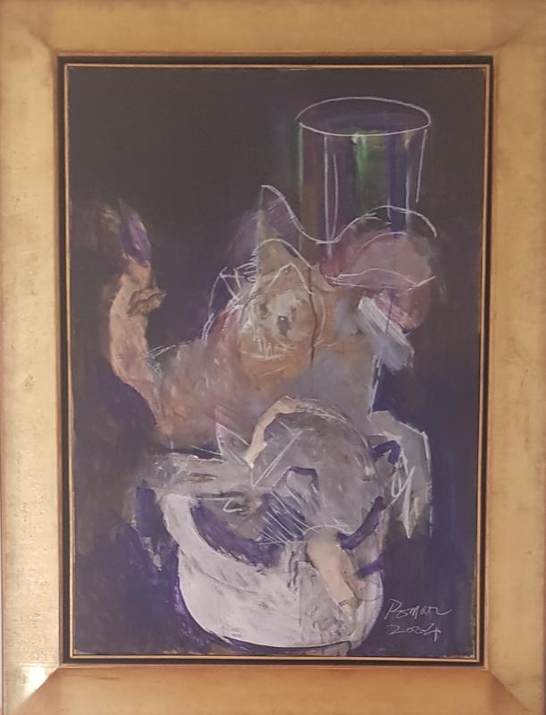 Júlio POMAR - Gemälde - PORCA NO REVEILLON