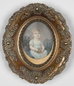 "Josef EINSLE - Miniature - ""Portrait of a Little Girl"", 1807, Miniature"