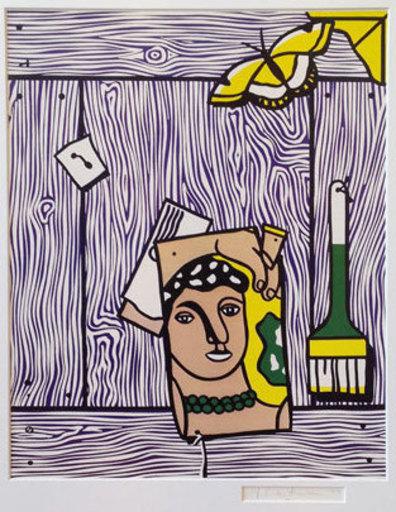 Roy LICHTENSTEIN - Stampa Multiplo - Leger head with paintbrush