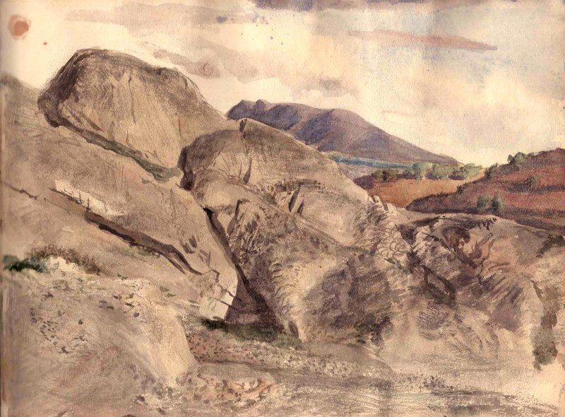 William Georges THORNLEY - Dibujo Acuarela - Paysage de Provence