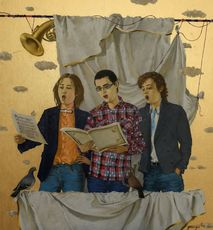 Tatjana PALCUKA - Painting - Trio of Singers Boys    (Cat N° 6090)