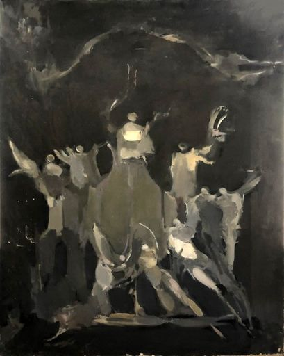 Alfred ABERDAM - Painting - Angels and Ridders, 1957