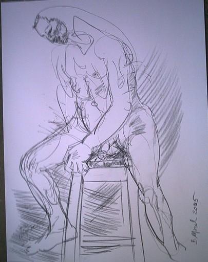 Bernard MOREL - Drawing-Watercolor - DESSIN