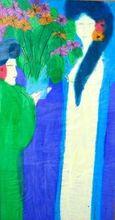 TING Walasse - Pintura - Does she wants me?
