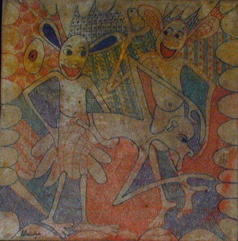 George LILANGA - Painting - Senza titolo
