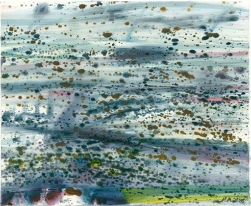 Matthias MEYER - Painting - Blaues Wasser