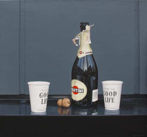 "Nataliya BAGATSKAYA - Painting - hyperrealistic food painting  ""Just Martini..."""