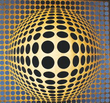 Victor VASARELY - Painting - Vega-or-va