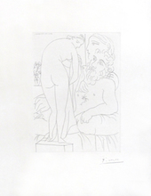 Pablo PICASSO (1881-1973) - Suite Vollard:  Sculpteur au repos - B. Baer Vol. II n°313
