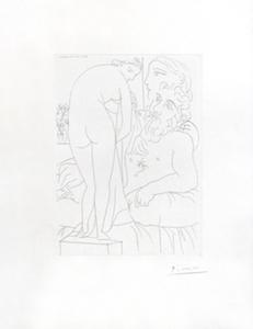 Pablo PICASSO, Suite Vollard:  Sculpteur au repos - B. Baer Vol. II n°313