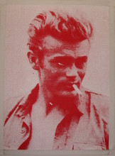 Russell YOUNG - Pintura - *James Dean, Red & White