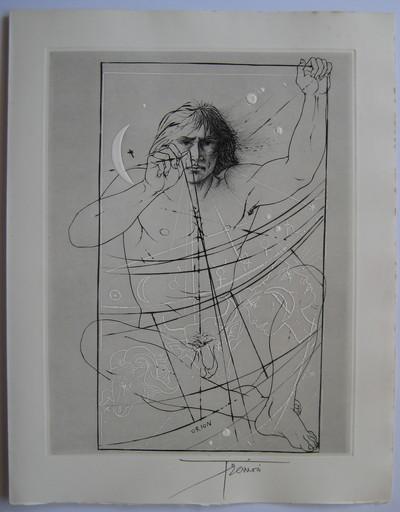 Pierre-Yves TRÉMOIS - Print-Multiple - GRAVURE 1970 SIGNÉE À L'ENCRE HANDSIGNED ETCHING MYTHOLOGIE
