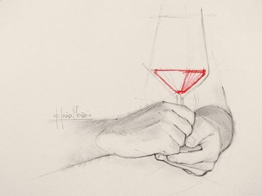 Fernando GARCIA MONZON - 水彩作品 - Cheers 2