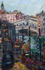 Bruno BONALDI - Peinture - Mattino a Rialto