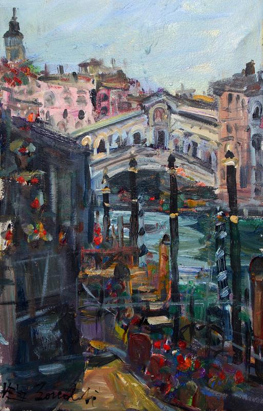 Bruno BONALDI - Painting - Mattino a Rialto
