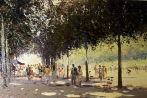 Roy PETLEY - Pittura - Dimanche aux Tuileries