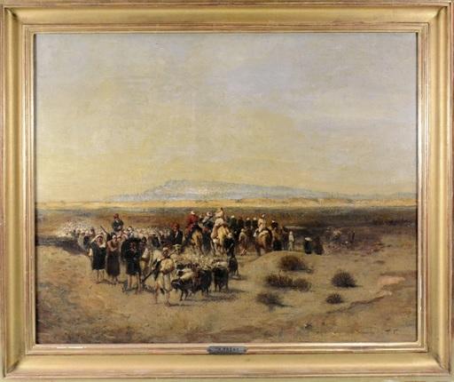 Théodore FRERE - Pintura - Caravane dans le désert