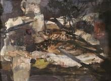 Eugène BABOULENE - Painting - Poissons