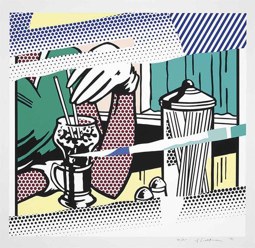 Roy LICHTENSTEIN - Stampa Multiplo - Reflections on Soda Fountain