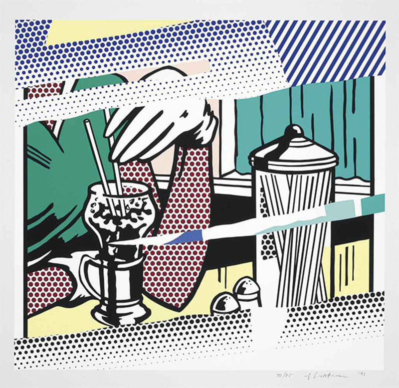 Roy LICHTENSTEIN - Grabado - Reflections on Soda Fountain