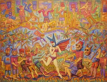 Ronaldo ENRIGHT - Painting - la mujer