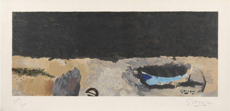 Georges BRAQUE - Stampa-Multiplo - La Barque sur la grève