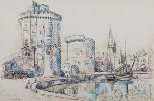 保罗•西涅克 - 水彩作品 - La Rochelle