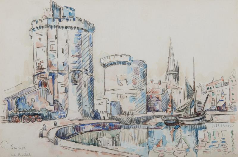 Paul SIGNAC - Drawing-Watercolor - La Rochelle