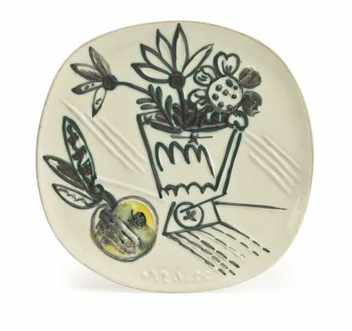 Pablo PICASSO - Céramique - Bouquet à la pomme