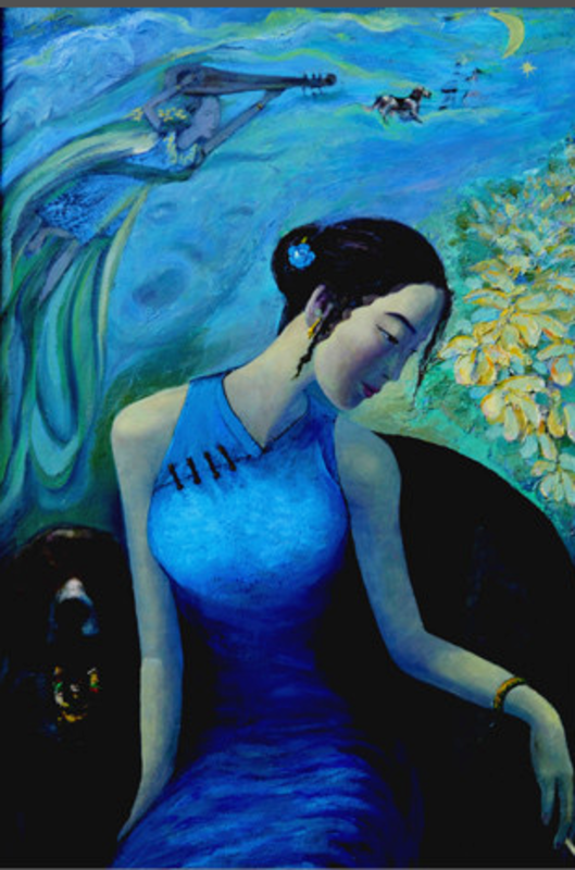 ZHENG Judy C. - Gemälde - Xiguan Women's dream No.3