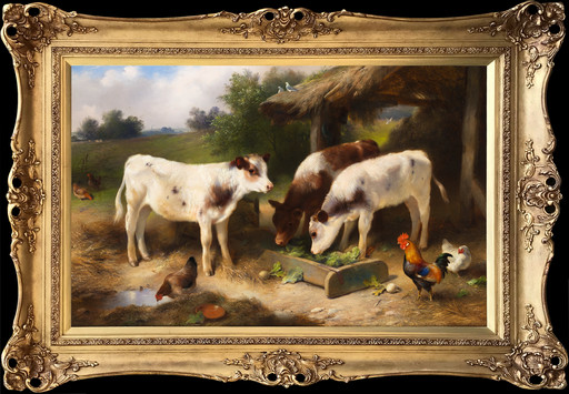 Walter HUNT - Pintura - Farmyard Friends