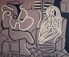 Pablo PICASSO - Print-Multiple - Woman in an Armchair with a Guitarist