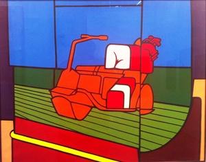 Valerio ADAMI - Pintura - LA MACCHINA DEL GOLF