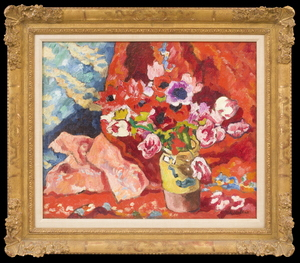 Louis VALTAT - Pittura - Fleurs